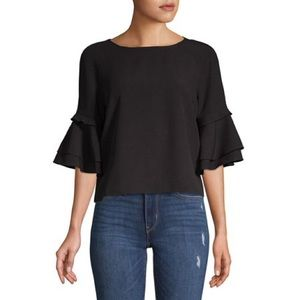 Lord & Taylor Design Lab Ruffle Sleeve Blouse
